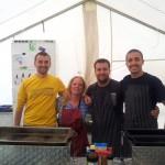 Das Küchenteam: Pirmin, Judith, Johannes und Nico
